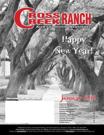 Cross Creek Ranch January 2018