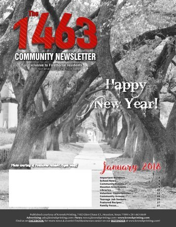 The 1463 January 2018