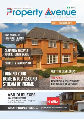 Property Avenue Magazine - Maiden Edition