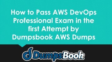 AWS DevOps Professional Exam Dumps