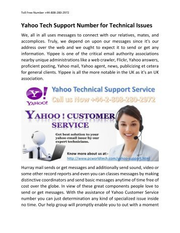 Yahoo Tech Support +44-808-280-2972 Service Number