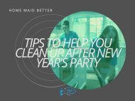 Tips to Help You Clean Up after New Year's Party