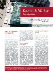 Kapital und Märkte: Ausgabe Dezember 2017