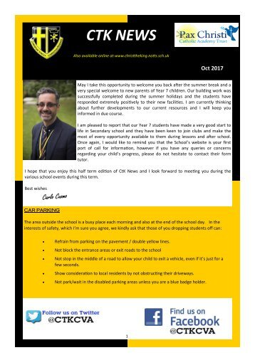 Oct 2017 CTK Newsletter