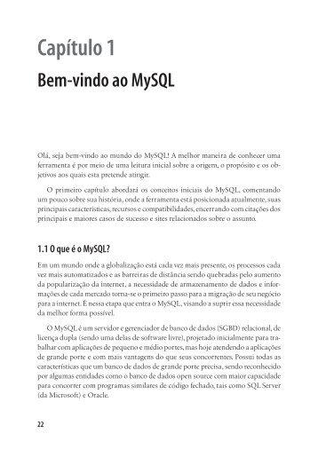 Capítulo 1 Bem-vindo ao MySQL - Novatec