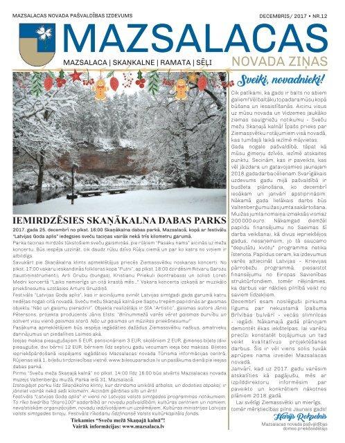 Mazsalacas novada ziņas_decembris 2017