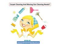 Carpet Cleaning And Moving Out Cleaning Needs?