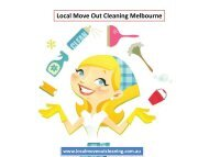 Local Move Out Cleaning Melbourne