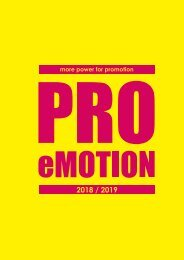 Power for Promotion 2018 / 2019 - PRO eMOTION