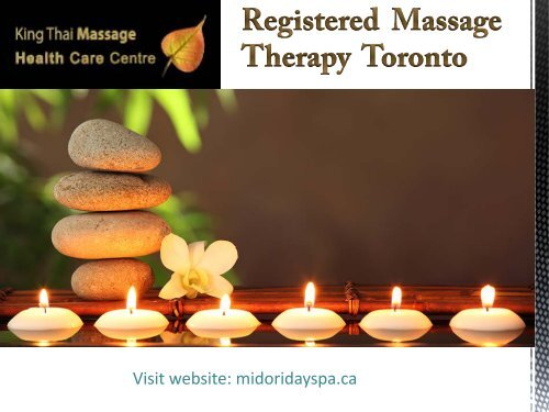 Registered Massage Therapy in Toronto