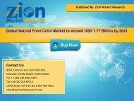 Global Natural Food Color Market, 2015 – 2021