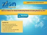 Global Antifouling Paints & Coating Market, 2015 – 2021