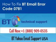 Fix BT Email Error Code 0781 Call 1-888-909-0535 toll-free number
