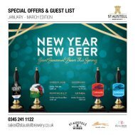 Special Offers & Guest List : Jan - Mar Edition