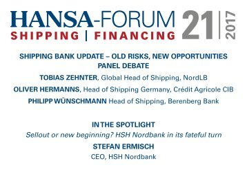 Panel Discussion – Shipping Banks