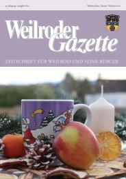 Weilroder Gazette Weihnachten/Januar/Februar 2018
