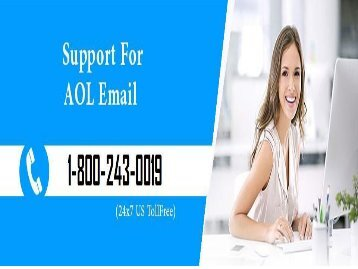 AOL Technical Support Number 18002430019 For Help