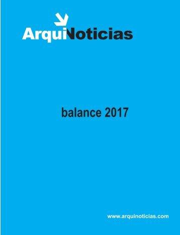 ArquiNoticias balance 2017