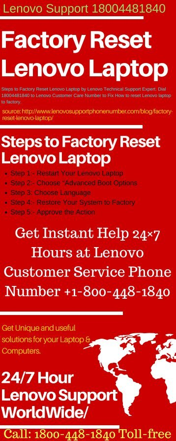 Factory Reset Lenovo Laptop 18004481840 Lenovo Support