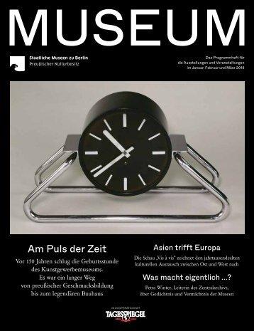 MUSEUM I 2018 - Programmheft der Staatlichen Museen zu Berlin