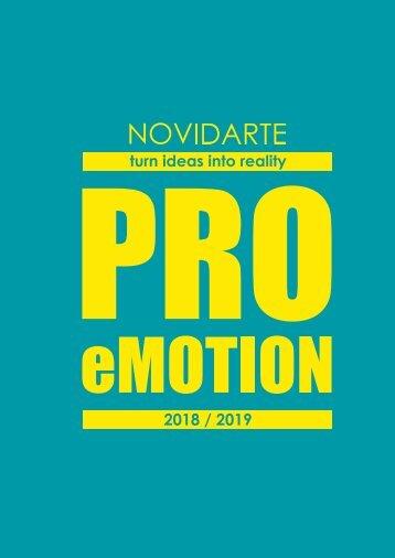 NOVIDARTE 2018 / 2019 - PRO eMOTION