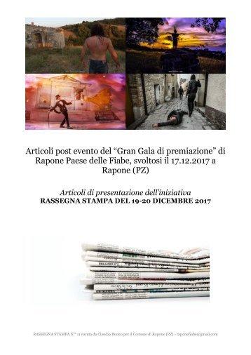 """Rassegna stampa premiazione """"Rapone Fiaba Foto Festival"""""""