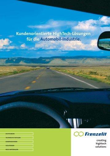 Kundenorientierte HighTech-Lösungen für die Automobil-Industrie.