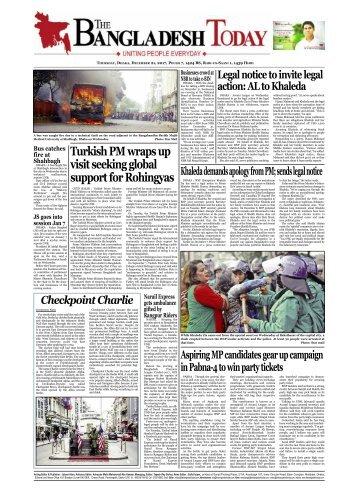 The Bangladesh Today (21-12-2017)