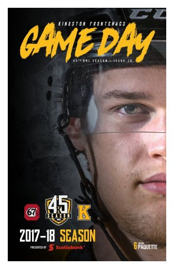 Kingston Frontenacs GameDay December 28, 2017