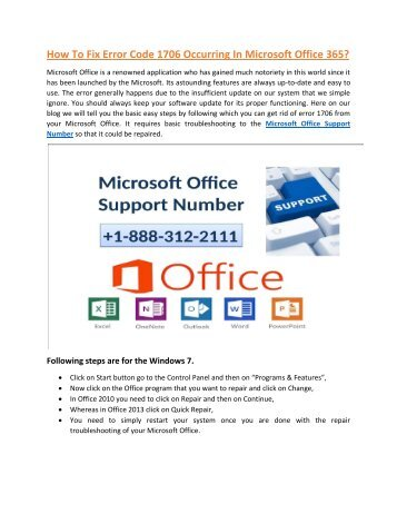 Microsoft Office 365 Customer Service +1-888-312-2111
