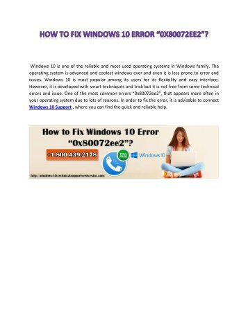 How to Fix Windows 10 Error _0x80072ee2_