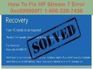 Call 1-800-528-7430 Fix HP Stream 7 Error 0xc000000f