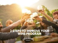 3 Steps to improve your wine program