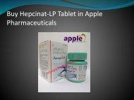 Buy Hepcinat-LP(Sofosbuvir 400mg/Ledipasvir 90mg)Tablet in Apple Pharmaceuticals
