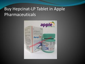 Buy Hepcinat-LP(Sofosbuvir 400mg/Ledipasvir 90mg)Tablet in Apple Pharmaceuticals