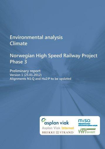 Environmental analysis Climate - Jernbaneverket