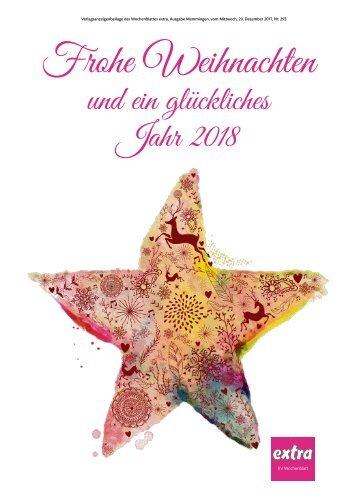 Frohe Weihnachten und ein glückliches Jahr 2018 aus Memmingen