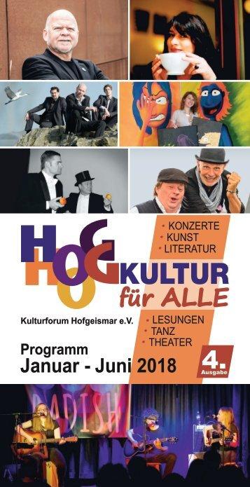 Broschüre Kulturforum 1/2018