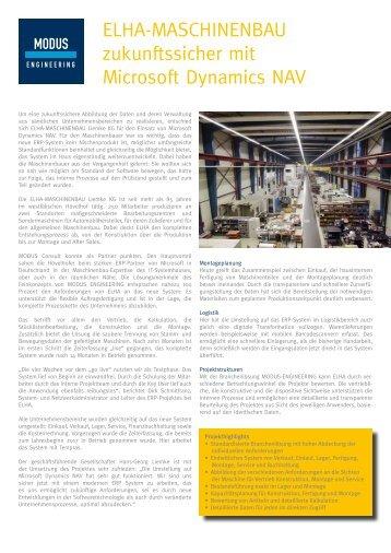 Anwenderbericht ELHA-Maschinenbau