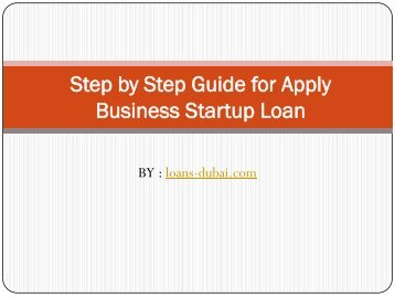Step by Step Guide for Apply Business Startup Loan
