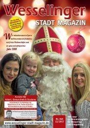 Wesselinger Stadt Magazin Dezember 2017