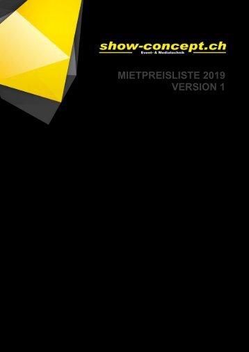 show-concept.ch Mietpreisliste 2018 - Version 1