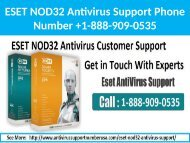 1-888-909-0535 ESET NOD32 Antivirus Support