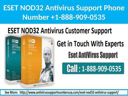 1-888-909-0535 ESET NOD32 Antivirus Support
