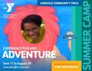 Lionville Community YMCA - Summer Camp Guide
