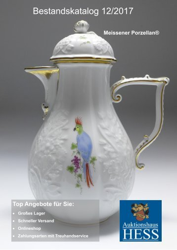 Bestandskatalog Meissen Porzellan 12-2017 bei hess-shops