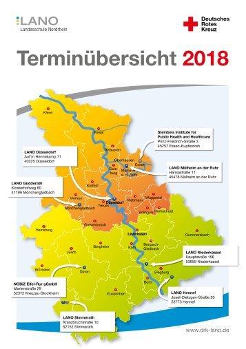 LANO Terminübersicht 2018