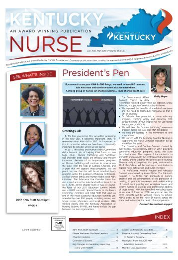 Kentucky Nurse - January 2018
