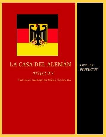"""LA CASA DEL ALEMÁN """"DULCES"""""""