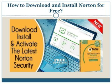 How to Download and Install Norton for Free?
